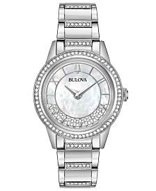 Bulova Women's Dress Stainless Steel Bracelet Watch 32.5mm