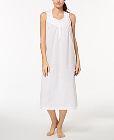 Charter Club Woven Lace-Trim Nightgown, Created for Macy's
