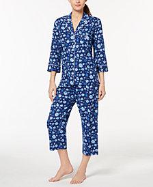 Lauren Ralph Lauren Classic Knits Floral-Print Cotton Pajama Set