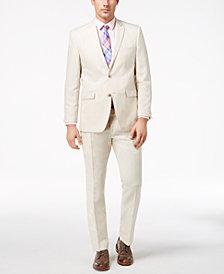Perry Ellis Men's Slim-Fit Stretch Stone Linen Suit
