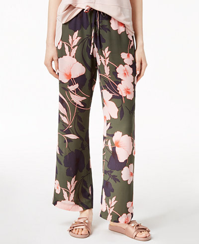 Bar III Floral-Print Wide-Leg Pants, Created for Macy's
