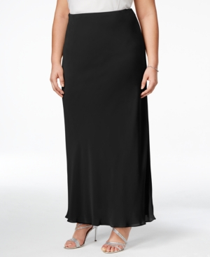 1930s Style Skirts : Midi Skirts, Tea Length, Pleated Alex Evenings Plus Size Evening Maxi Skirt $79.00 AT vintagedancer.com
