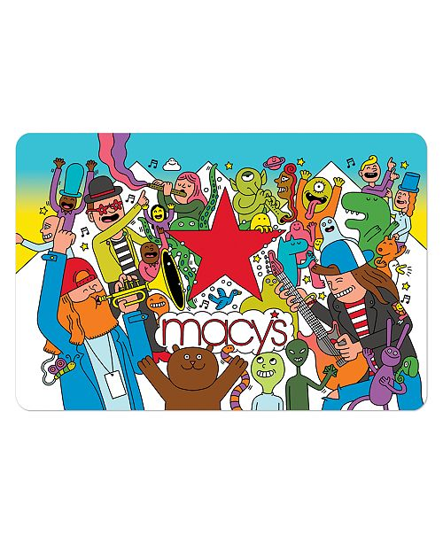 Macy's #shopnow Gift Card with Greeting Card