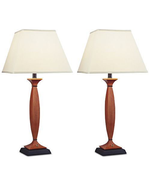 Kathy Ireland Pacific Coast Set of 2 Gibraltar Table Lamp