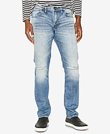 Silver Jeans Co. Men's Taavi Slim Fit Stretch Ripped Jeans