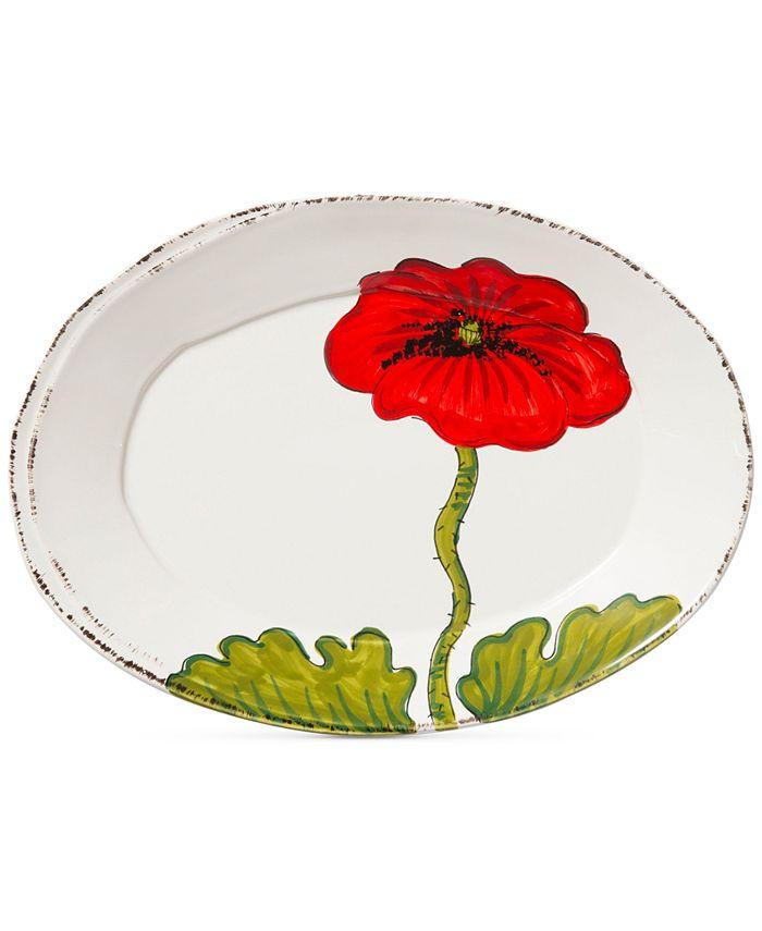 VIETRI - Lastra Poppy Collection Small Oval Platter