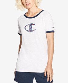 Champion Heritage Printed Logo Ringer T-Shirt
