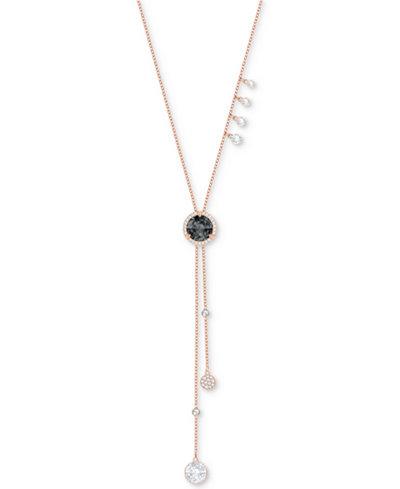 Swarovski Rose Gold-Tone Crystal Asymmetric 25-5/8