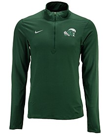 Men's Tulane Green Wave Solid Dri-FIT Element Quarter-Zip Pullover