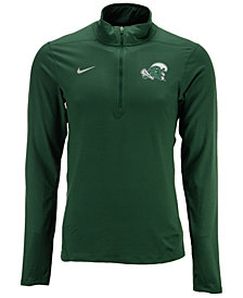 Nike Men's Tulane Green Wave Solid Dri-FIT Element Quarter-Zip Pullover
