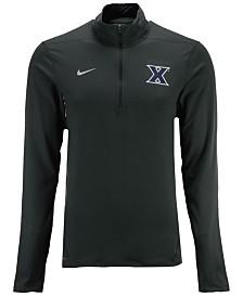 Nike Men's Xavier Musketeers Heather Dri-FIT Element Quarter-Zip Pullover