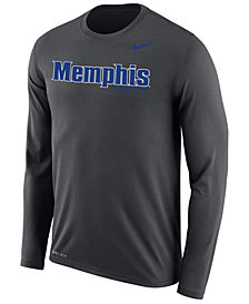 Nike Men's Memphis Tigers Dri-FIT Legend Wordmark Long Sleeve T-Shirt