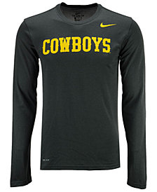 Nike Men's Wyoming Cowboys Dri-FIT Legend Wordmark Long Sleeve T-Shirt