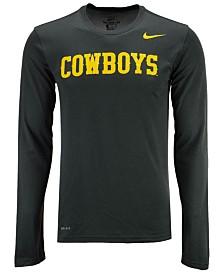 Nike Men's Wyoming Cowboys Dri-FIT Legend Wordmark Long Sleeve T-Shirt