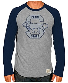 Men's Penn State Nittany Lions Retro Logo Tri-Blend Raglan T-Shirt