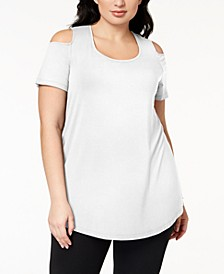 Plus Size Cold-Shoulder Tunic, Created for Macy's
