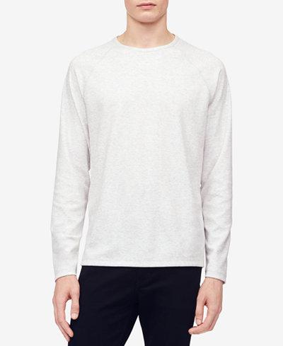 Calvin Klein Men's Heather Raglan-Sleeve T-Shirt