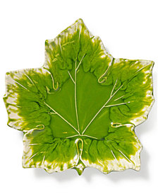 Vietri Reactive Leaves Collection Small Plate
