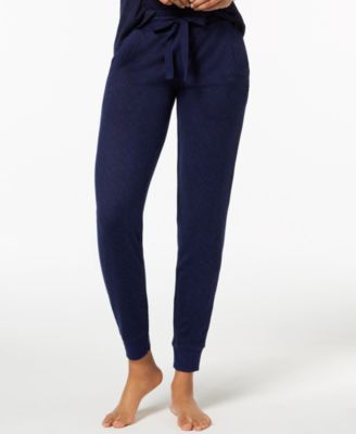 Whisperluxe Ribbed-Trim Jogger Pajama Pants