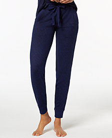 Ande Whisperluxe Ribbed-Trim Jogger Pajama Pants