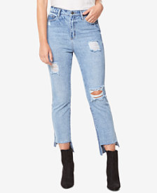 Buffalo David Bitton Cotton High-Rise Ripped Denim Jeans