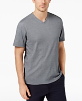 8efab7aa Tasso Elba Men's Supima® Blend V-Neck Short-Sleeve T-Shirt,