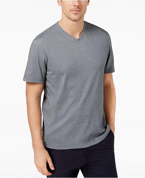 Tasso Elba Men's Supima® Blend  V-Neck Short-Sleeve T-Shirt, Created for Macy's