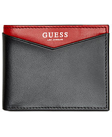 GUESS Men's Huntington Colorblocked Leather Billfold Wallet