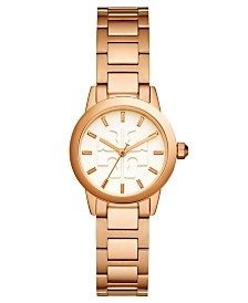 Tory Burch Women's Gigi Rose Gold-Tone Stainless Steel Bracelet Watch 28mm
