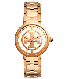 Tory Burch Women's Reva Rose Gold-Tone Stainless Steel Bracelet Watch 36mm