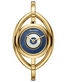 81db1ebdbd505 Tory Burch Women s Evil Eye Gold-Tone Stainless Steel Bangle Bracelet Watch  25mm