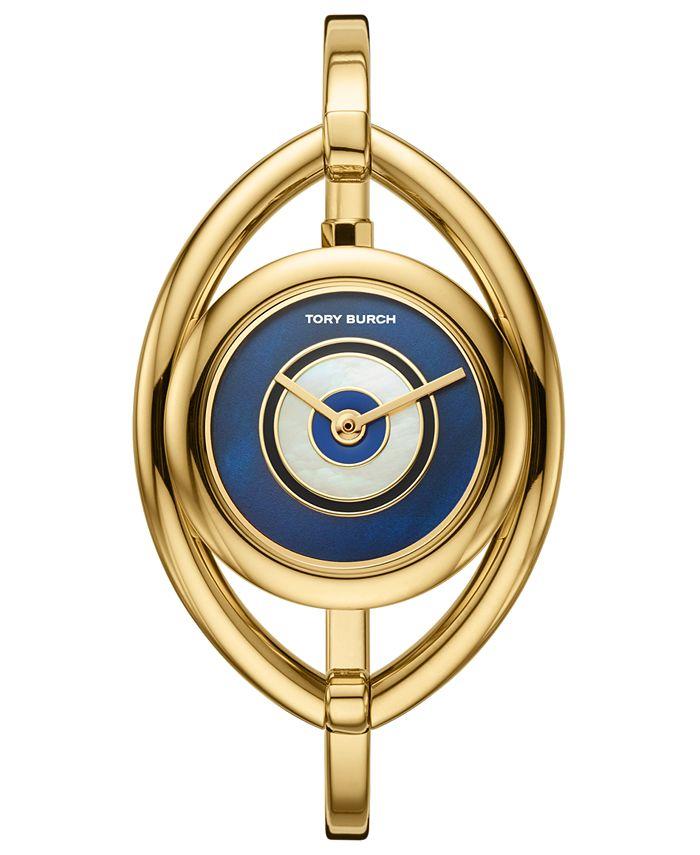 Tory Burch - Women's Evil Eye Gold-Tone Stainless Steel Bangle Bracelet Watch 25mm