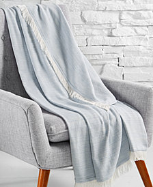 CLOSEOUT! Hotel Collection 525-Thread Count Cotton Throw Blanket, Created for Macy's