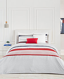 Lacoste Home Auckland Red King Duvet Cover Set