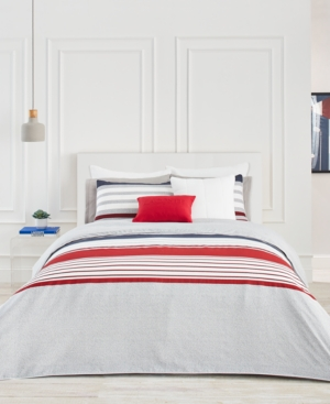 Lacoste Home Auckland Red Full/Queen Comforter Set Bedding