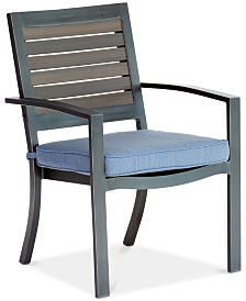 CLOSEOUT! Harlough II Outdoor Dining Chair with Sunbrella® Cushion, Created for Macy's