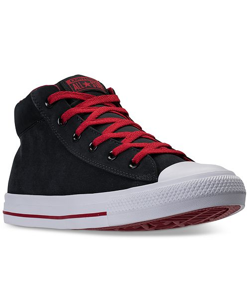 5ee986f227 ... Converse Men s Chuck Taylor Street Mid Casual Sneakers from Finish ...