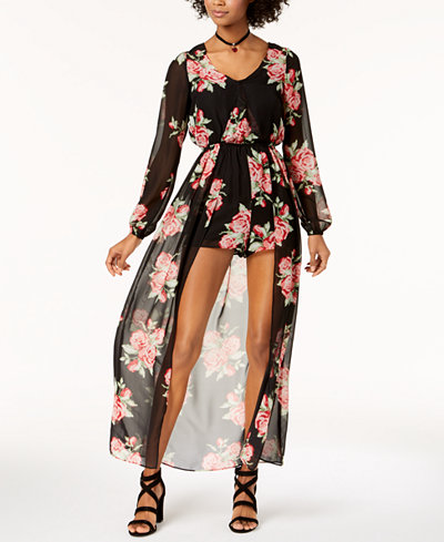 The Edit By Seventeen Juniors' Printed Jumpsuit, Created for Macy's