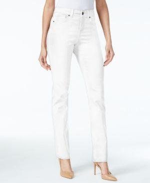 Style & Co Petite Tummy-Control Straight-Leg Jeans, Created for Macy's 7081125