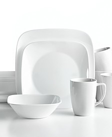 Vivid White Square 16-Pc. Set, Service for 4