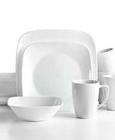 Corelle Vivid White Square 16-Pc. Set, Service for 4