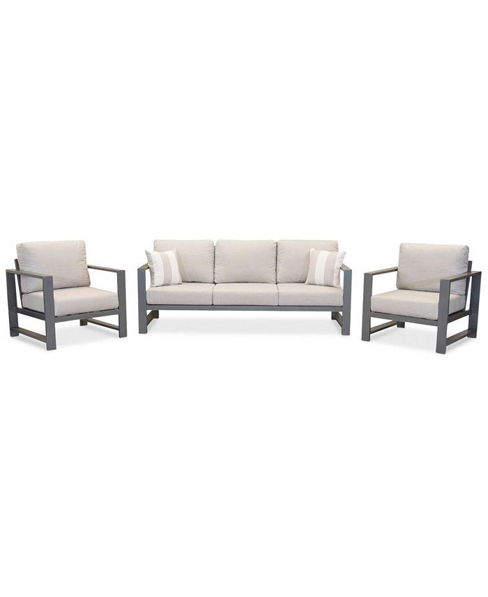 Furniture Aruba Grey Aluminum Outdoor 3, Grey Outdoor Furniture