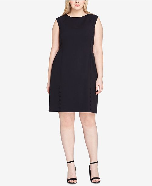 Tahari Asl Plus Size Button Detail Dress Dresses Women Macys