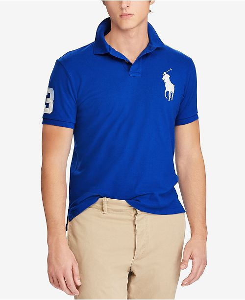 9f5886afdab Polo Ralph Lauren Men s Custom Big Pony Slim Fit Mesh Polo   Reviews ...