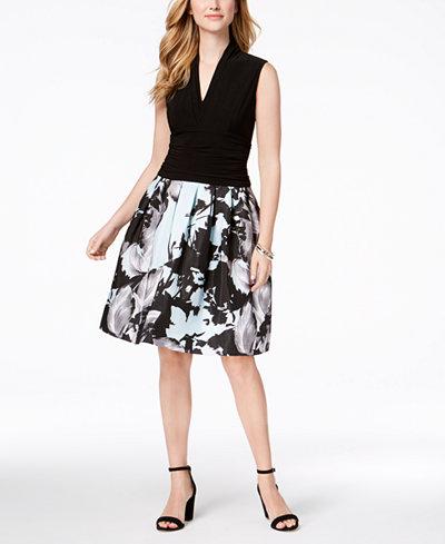 SL Fashions Printed-Skirt Dress