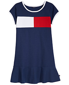 Tommy Hilfiger Colorblocked Piqué Dress, Little Girls