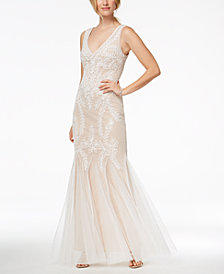Betsy & Adam Soutache Mermaid Gown