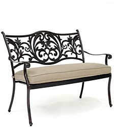 CLOSEOUT! Chateau Outdoor Dining Bench with Sunbrella® Cushion, Created for Macy's