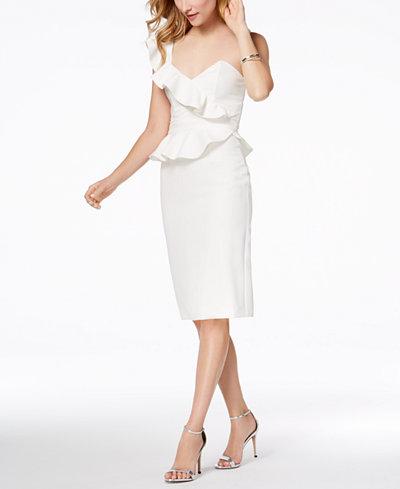 Bardot Camilla One-Shoulder Ruffle Midi Dress