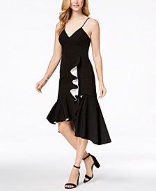Bardot Kiki Contrast Ruffle Midi Dress